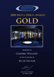 Gold Spa of the Year @ Galgorm for Cheshire Wellness who are specialist in swimming pool and spa design and installation. They have created a huge number of pool and spa creations as well as experience rooms, hydro spas, swim spas, special needs pools and more.